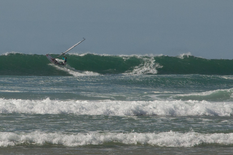 Windsurfer at Lostmarch Beach, Lostmarc'h