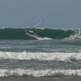 Windsurfer at Lostmarch Beach, Lostmarc'h