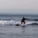 @batukaras spot with my funboard, Batu Karas