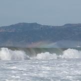 Rainbow in wave spray, Gillis