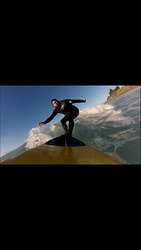 Phil Lyons by gopro at St Clair, Dunedin - St Clair photo