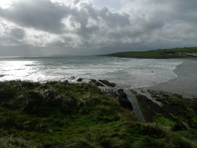 Falling tide, strong onshore, Garrettstown