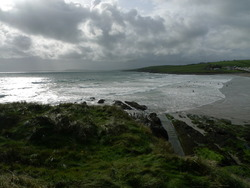 Falling tide, strong onshore, Garrettstown photo