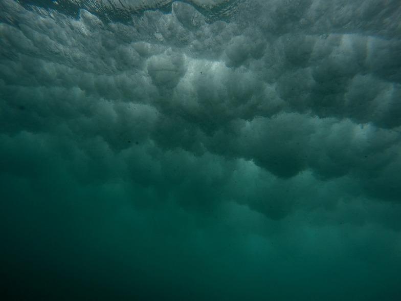 under the wave, Wharariki Beach