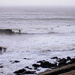 Oxwich Point Surfers