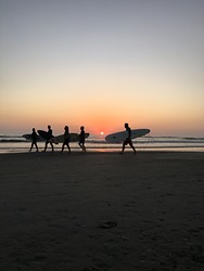 Sunset at Playa Del Sol, Asia - Rosario photo