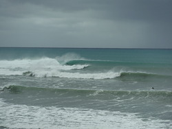 spit pumping, Mahia Spit photo