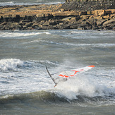 Wave hopping., Kimmeridge Bay