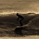 Classic long-boarding session, Compton Bay