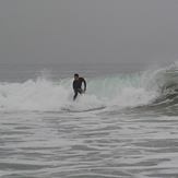 Surfer, heavy marine layer, Gillis
