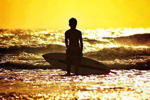 Sunset point left senggigi beach