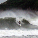 BWB in a typhoon, 2008, Big Wave Bay