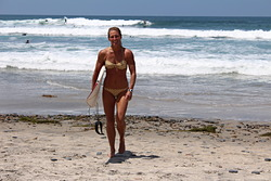 Cardiff Surfer Girl, Turtles photo