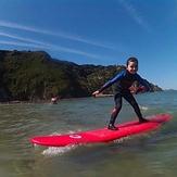Saray 5 años surf Cadavedo, Playa de Cadavedo