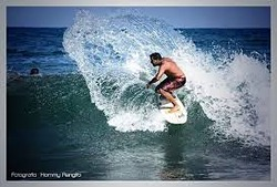 Junior surfer, Las Salinas photo