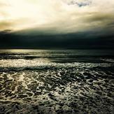 Orewa after a winter storm, Orewa Beach