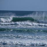 Heavy winter swell, Wharariki Beach