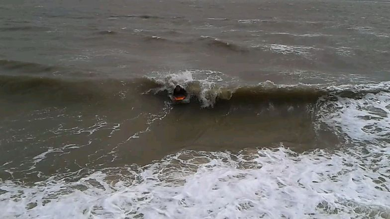 Bodyboarding in Essex in summer!, Walton-On-The-Naze