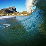 Steffan pulling into a typical Pringles closeout, Pringle Bay