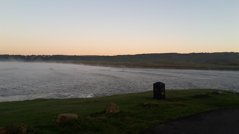 Steam at dawn, Ogmore-by-Sea