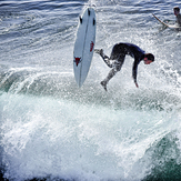 Flying at the Slot, Steamer Lane-The Slot