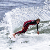 Travis at the Slot, Steamer Lane-The Slot