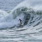 Surfing Middle Peak, Steamer Lane-Middle Peak