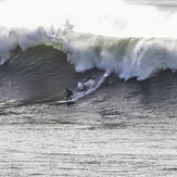 Big surf at Middle Peak, Steamer Lane-Middle Peak