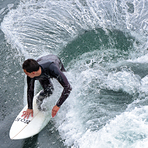 Good move at the Slot, Steamer Lane-The Slot