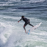 Flying at Middle Peak, Steamer Lane-Middle Peak