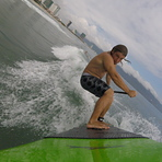 Sup surfing in Danang, My Khe / Da Nang