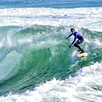 13 year old Ben surfs Middle Peak, Steamer Lane-Middle Peak