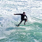 Flea at Middle Peak, Steamer Lane-Middle Peak
