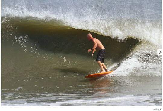 October 21 2016 911 surfreport with the photo credit, Hanna Park/Mayport Poles