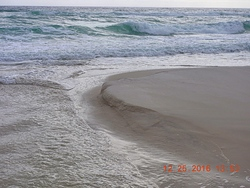 Beach erosion, Pensacola beach photo