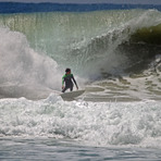 local surfer looking for a tube, Matadeiro