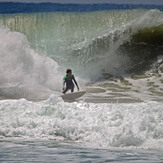 local surfer looking for a tube, Matadeiro
