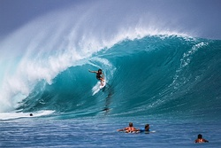 Craig Anderson on the swell of the Decade in Indonesia, Rifles (Kandui Right) photo