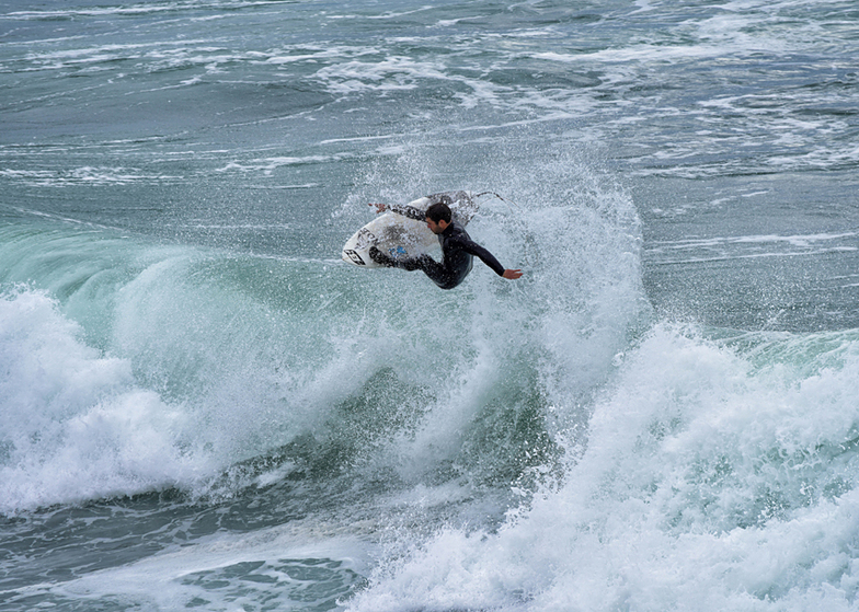 The Slot at Santa Cruz, Steamer Lane-The Slot
