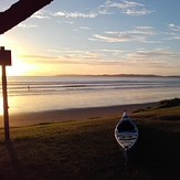 Delphin sunrise surf session at Orewa., Orewa Beach