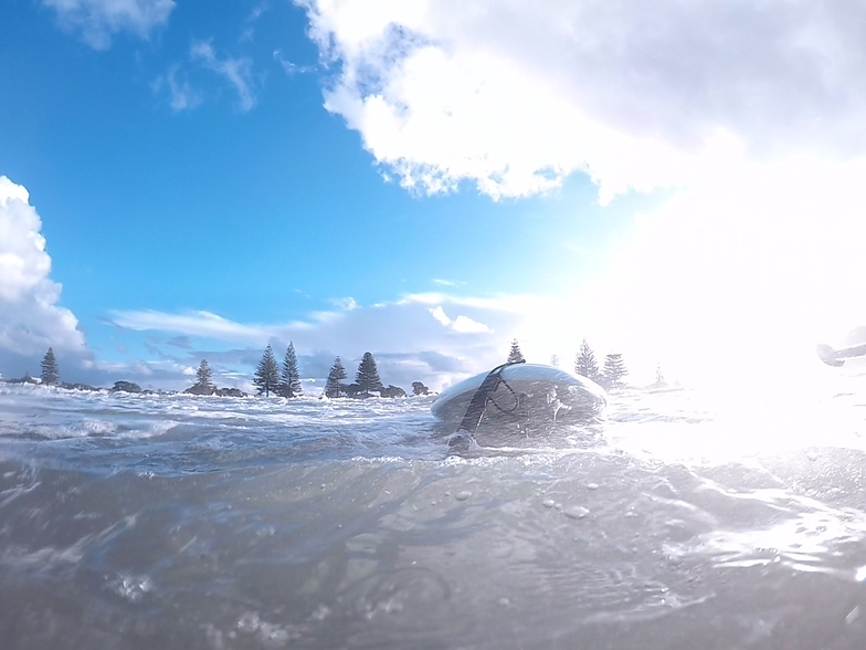 Orewa mid beach as ex Cyclone cook passed by, Orewa Beach