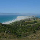Looking along Farewell spit