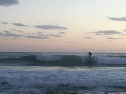 Evening surf at corner of the beach, Portixeddu photo