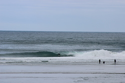 Pumping Allan Cove - S Swell, SW wind, Otago Peninsula - Allans Beach photo