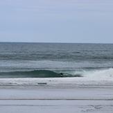 Pumping Allan Cove - S Swell, SW wind, Otago Peninsula - Allans Beach