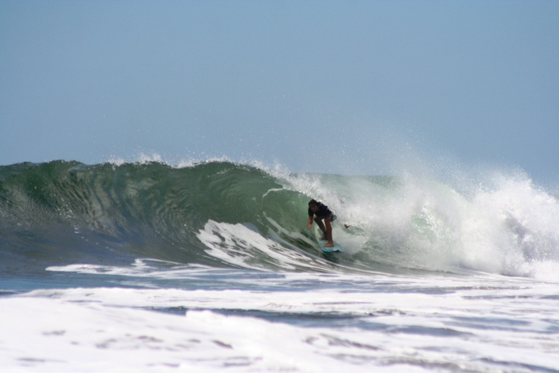 Mike in the barrel!, El Transito