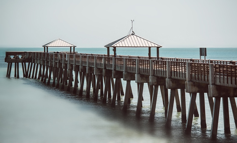 Pier, one day after Hurricane Irma 2017, Juno Pier