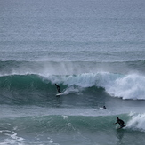 Sufer and body-boarder go right at La Paue, La Palue