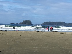 Sunny thanksgiving days, on the beach, Tofino (North Chestermans Beach) photo