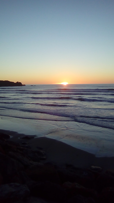 Punakaiki sunset.